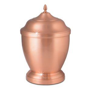 Rusk Spun Copper Urn